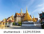 wat phra kaew ancient temple in ... | Shutterstock . vector #1129155344