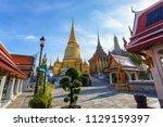 wat phra kaew ancient temple in ... | Shutterstock . vector #1129159397