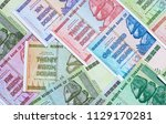 banknotes of zimbabwe after... | Shutterstock . vector #1129170281