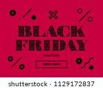black friday sale. web banner... | Shutterstock .eps vector #1129172837