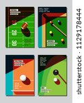 graphic design sport concept.... | Shutterstock .eps vector #1129178444