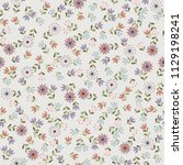 amazing seamless floral pattern ...   Shutterstock . vector #1129198241
