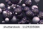 abstract 3d rendering of... | Shutterstock . vector #1129205084