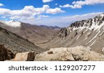 high altitude mountain pass in... | Shutterstock . vector #1129207277