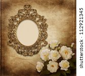 old frame victorian style on... | Shutterstock . vector #112921345