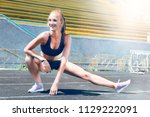 young fitness muscle sporty...   Shutterstock . vector #1129222091