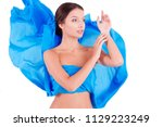 pure clean beauty pretty girl   ...   Shutterstock . vector #1129223249