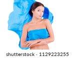 pure clean beauty pretty girl   ...   Shutterstock . vector #1129223255