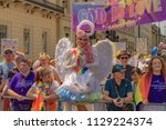 Small photo of LONDON,ENGLAND - JULY 07: Today during Pride In Pride London 2018. Pride In London is the UK's biggest, most diverse Pride which provides a platform for every part of London's LGBT+ community