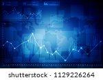 2d rendering stock market... | Shutterstock . vector #1129226264