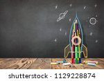 back to school concept with... | Shutterstock . vector #1129228874