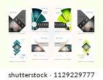 abstract vector business... | Shutterstock .eps vector #1129229777