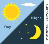 day and night sign  icon  label ... | Shutterstock .eps vector #1129231841