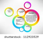 presentation slide template... | Shutterstock .eps vector #112923529