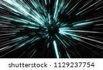 abstract of warp or hyperspace... | Shutterstock . vector #1129237754
