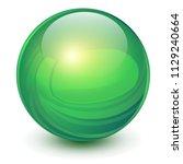 green sphere  3d vector ball. | Shutterstock .eps vector #1129240664