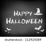 conceptual happy halloween ad...   Shutterstock .eps vector #112925089