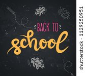 back to school lettering with... | Shutterstock .eps vector #1129250951