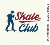 skate club badge. vector... | Shutterstock .eps vector #1129255871