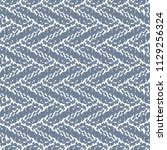 blue rough carpet with a zigzag ... | Shutterstock .eps vector #1129256324