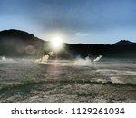 visiting el tatio  a geyser...   Shutterstock . vector #1129261034