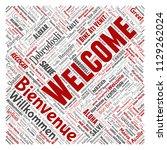 vector conceptual abstract... | Shutterstock .eps vector #1129262024