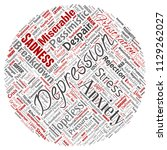 vector conceptual depression or ... | Shutterstock .eps vector #1129262027