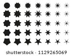vector set. different star... | Shutterstock .eps vector #1129265069