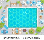 vector illustration. swimming... | Shutterstock .eps vector #1129265087