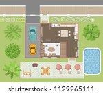 vector illustration. a floor... | Shutterstock .eps vector #1129265111