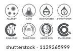skin icon set vector   allergy... | Shutterstock .eps vector #1129265999