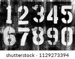 abstract grunge futuristic... | Shutterstock . vector #1129273394