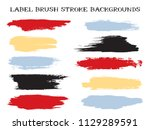 grunge label brush stroke... | Shutterstock .eps vector #1129289591