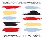 grunge label brush stroke... | Shutterstock .eps vector #1129289591