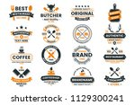 vintage retro vector logo for... | Shutterstock .eps vector #1129300241