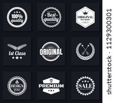 vintage retro vector logo for... | Shutterstock .eps vector #1129300301
