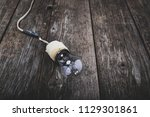 retro incandescent lamp with... | Shutterstock . vector #1129301861