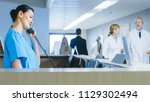 in the hospital at the... | Shutterstock . vector #1129302494