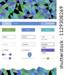 light multicolor vector web ui...