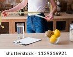 lemon and ginger detox diet for ... | Shutterstock . vector #1129316921