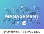 management lettering with... | Shutterstock .eps vector #1129321337