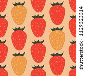 seamless pattern with... | Shutterstock .eps vector #1129323314