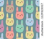 hand drawn seamless pattern... | Shutterstock .eps vector #1129323317