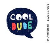 cool dude illustration vector. | Shutterstock .eps vector #1129327091