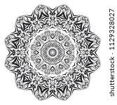 flower mandala. printable... | Shutterstock .eps vector #1129328027
