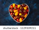 fresh delicious tomatoes in... | Shutterstock . vector #1129339211
