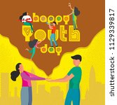 happy youth day celebration...   Shutterstock .eps vector #1129339817