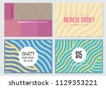 cover templates set  vector... | Shutterstock .eps vector #1129353221