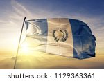 guatemala national flag textile ... | Shutterstock . vector #1129363361