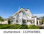 exterior view of new house... | Shutterstock . vector #1129365881